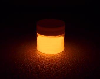 Orange Glow in the Dark Paint - 1 oz