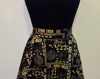 Star Trek Gold Starship Enterprise Nerd Skirt