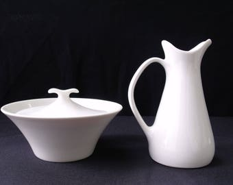 Iroquois Impromptu Bridal White Ben Seibel Creamer and Sugar set