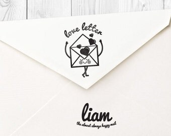 Liam love letter rubber stamp - FREE SHIPPING WORLDWIDE*