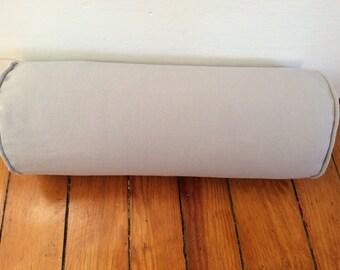 Gray Bolster Pillow Cover, Decorative Bolster Pillow Cover, 6''x16''