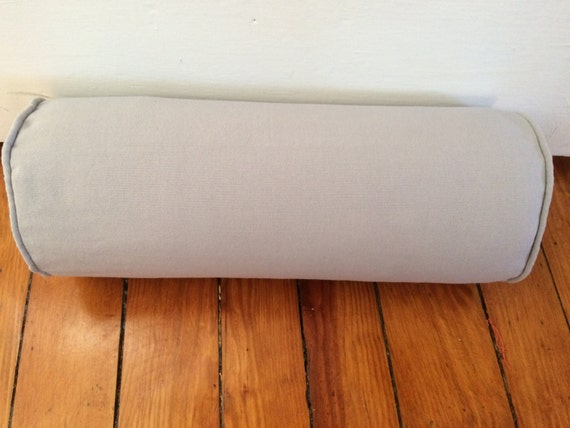 Decorative Bolster Pillow Covers : Items similar to Gray Bolster Pillow Cover, Decorative Bolster Pillow Cover, 6 x16 on Etsy