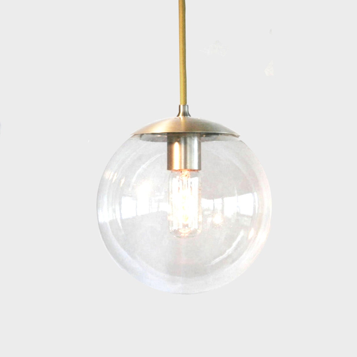 mid century modern clear 8 globe pendant light the