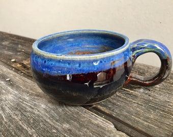 Soup Mug pottery wheel thrown handmade rustic cozy 14oz