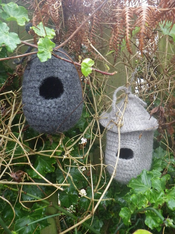 Crochet Pattern Small Bird Roost And House