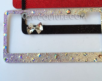 3d old hollywood style crystal bling license plate frame swarovski crystals