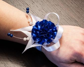 Royal Blue Prom Wristlets - Wedding Corsage - wedding wristlets