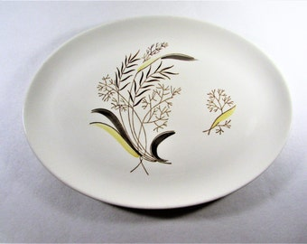 Stetson Duncan Hines Oval Platter Brown Yellow Leaves