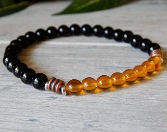 Mens Black Onyx Bracelet, Mens Bracelet, Man Bracelet, Men's Black Bracelet, Men's Jewelry, Gift for Him, Man Jewelry, Mens Beaded Bracelet