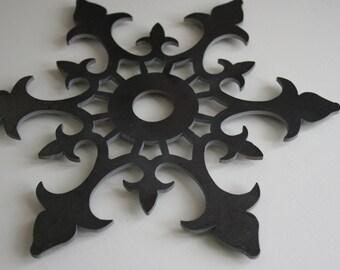 Metal Trivet, Fleur de lis Trivet, Steel Trivet