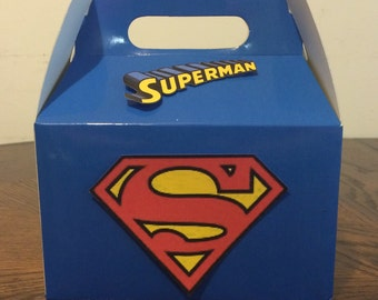 SuperMan Birthday Favor Box
