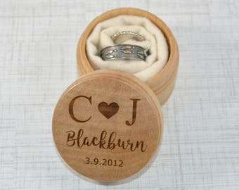 Ring Keepsake Box for Wedding Ceremony - Personalized - Ring Bearer Pillow Alternative