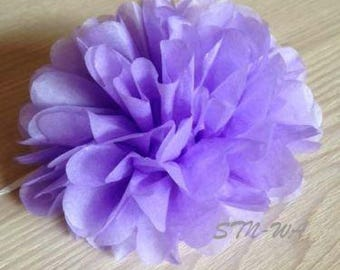 12x Lilac mini tissue paper pom pom | Wedding Baby shower Party Engagement Bridal Shower Table Centerpiece Decoration