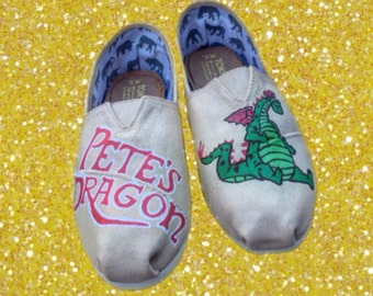 Pete's Dragon Toms  [custom dragon shoes]