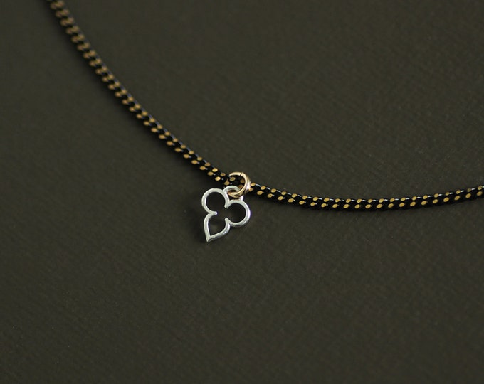 Silver Mehndi Choker Style Necklace on Brass Chain