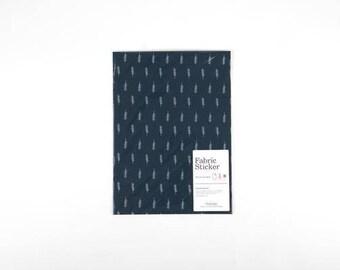 Feather on Navy Fabric Sticker Sheet - Dailylike
