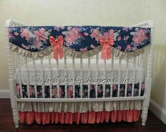 Gold crib bedding Etsy
