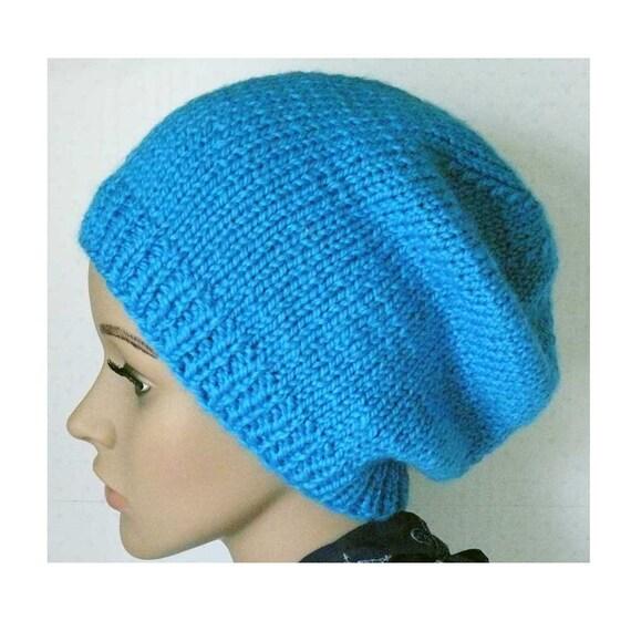 Women s Beanie Knitting Pattern : Knitting PATTERN Knit Slouchy Beanie Pattern Womens Knit