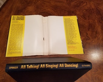 1st printing - 1966 Book - All Talking! All Singing! All Dancing! by John Springer