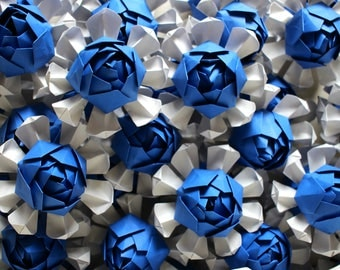 50 Origami Lotus Blossoms - Wedding Favours - Table Decor - Paper Decorations