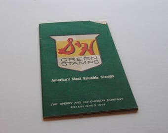 S & H Stamp Book/Vintage Green Stamps