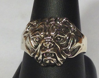 Sterling Silver Bulldog Ring