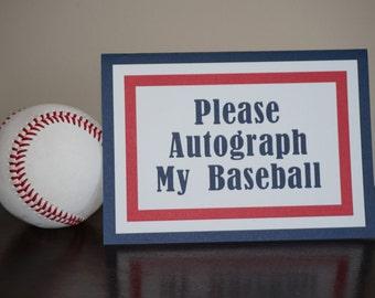 Baseball Sign, Please Autograph My Baseball, Baseball decorations, Baseball Baby Shower, Baseball Birthday, Baseball
