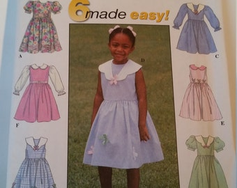 Simplicity 6 Made Easy Sewing Pattern 8027 Child's dress in size 2, 3, 4