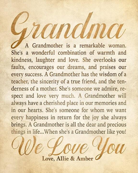 Grandmother Poems From Grandchildren