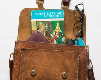 Vintage Upcycled Notebook - What Katy Did at School - Personalised Present - Handmade Journal