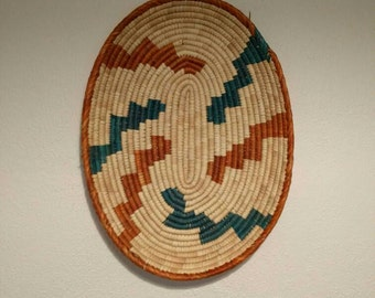 Woven Basket tray -  southwestern wall hanging