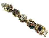 RESERVED For Moresia N /Selro White Devil Dragon Bracelet/Selro Japanese Okina Noh Mask Bracelet /