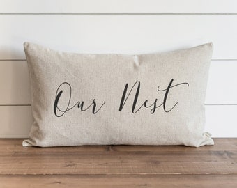Our Nest 16 x 26 Pillow Cover // Everyday // Housewarming // Anniversary // Throw Pillow // Gift for Them // Accent Pillow