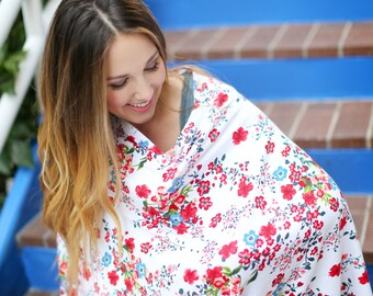 Ruby Starlet Nursing Poncho Doubles as a Carseat Cover/ Full Coverage Nursing Cover