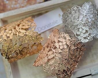 Rose gold  Bracelet  Gold cuff Bracelet  Bridal Cuff  Bracelet  Wedding Bracelet Wedding Silver Cuff  Bracelet Birthday Gift