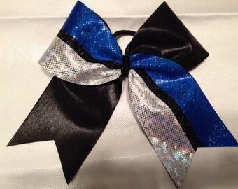 18 royal black and white bows