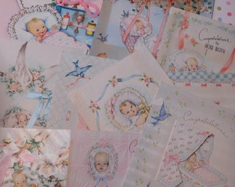 Vintage Baby Cards - Set of Ten Paper Ephemera