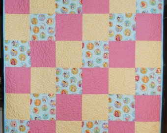 """Handmade Patchwork 35"""" x 47"""" Quilt Crib Toddler Teens Wheelchair Quilt Wall Hanging  or Mat for Play Room 35"""" x 47"""" Ready to Ship"""