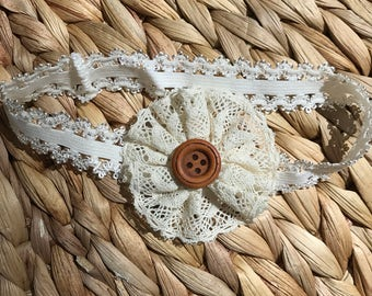 Shabby Chic Stretchy Headband