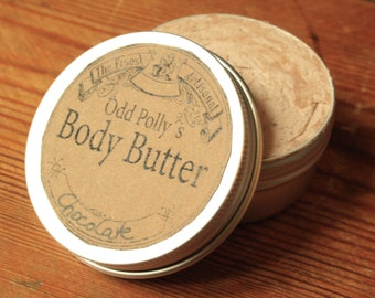 Odd Polly's chocolate body butter 50 ml, all natural, Cacaobutter with almond oil