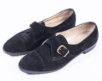 80's Salvatore Ferragamo Oxford Mary Janes w/ Buckles