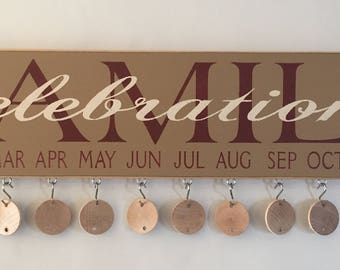 Family Celebration Sign - Complete with Discs | Country | Primitive | Rustic |