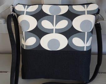 Shoulder Bag Orla Kiely Monochrome Oval Flower Print