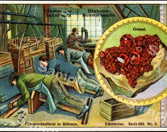 Original antique Victorian Trade card of Meat making