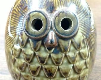 Vintage Midcentury Retro Fitz & Floyd Owl Coin Bank