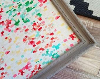 Framed Bulletin Board READY to SHIP Large Mud Room Cork Board Office Memo Board Christmas Gift Shabby Chic Pin Board