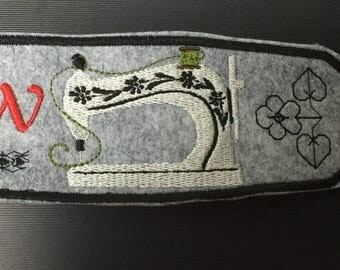 Sewing machine embroidered bracelet