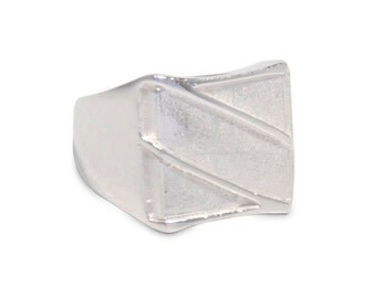 Mens Silver Ring Mens Signet Ring Womens Signet Ring Square Silver Ring 1041