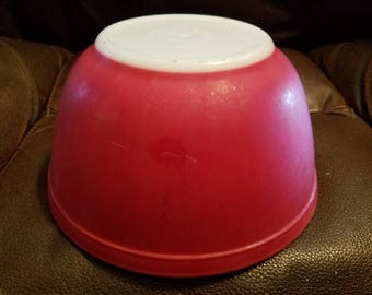 Vintage Red Pyrex Bowl