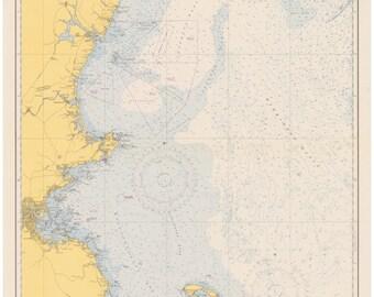 Cape Elizabeth to Cape Cod - 1949 Nautical Map - Reprint - Big Area AC Chart 50